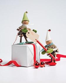 Pinecone elves from Martha Stewart
