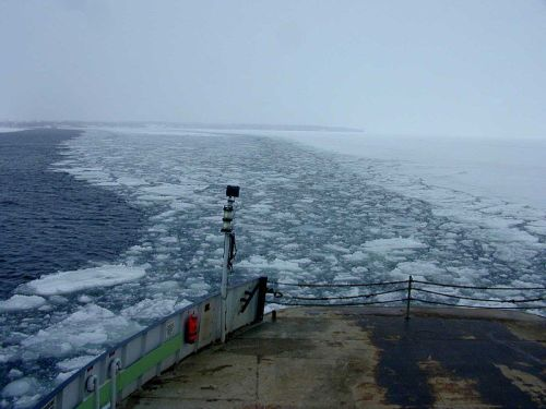 The winter ferry crossing sometimes makes one feel like Shackleton