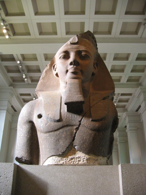 The 'Younger Memnon' statue of Ramesses II in the British Museum thought to have inspired the poem.