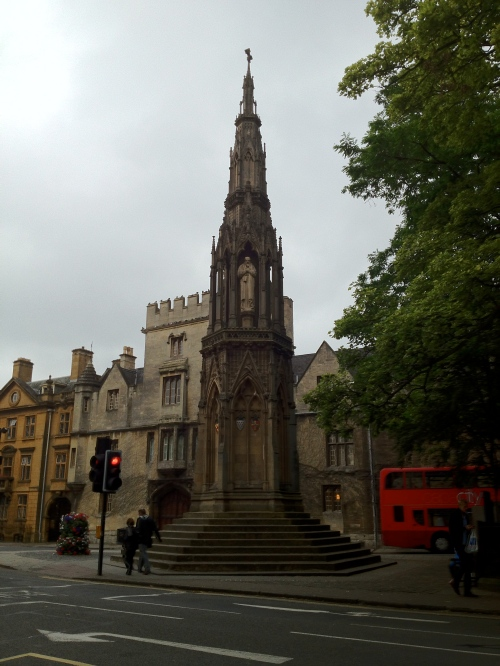 Martyrs' monument in Oxford.