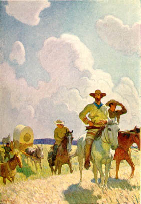 The Parkman Outfit. Henry Chatillon, Guide and Hunter, by N.C. Wyeth