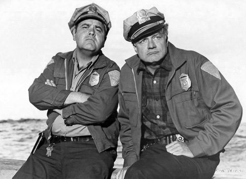 Two bad-asses: Jonathan Winters and Brian Keith