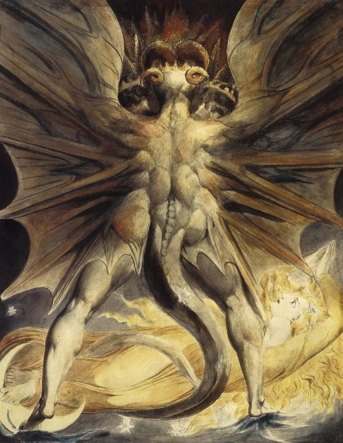 'The Great Red Dragon and the Woman Clothed in Sun', by William Blake