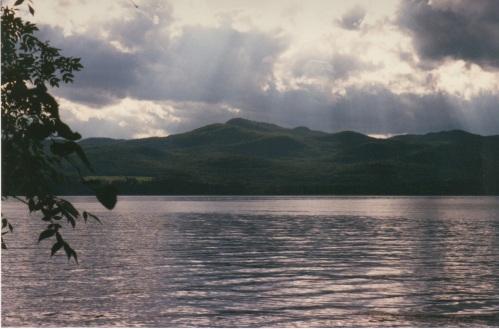God-rays on Lake Champlain