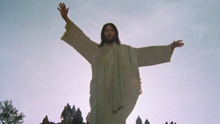 Robert Powell as Jesus calls Lazarus forth