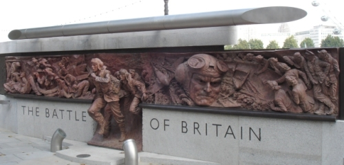 A section of the Battle of Britain Monument in London, England