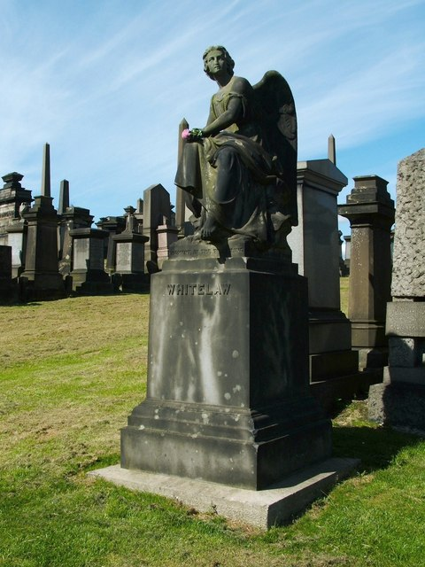 The famous Whitelaw monument in the Glasgow Necropolis features the scripture from I Corinthians around its base.