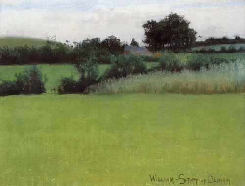 """Barrow Farm"" by William Stott of Oldham (1857--1900)"