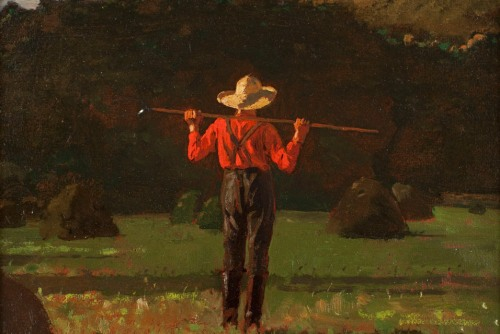 Farmer with a Pitchfork by Winslow Homer