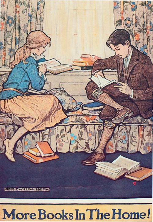 more-books-in-the-home-by-jessie-willcox-smith