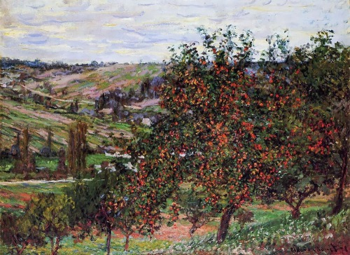 """Claude Monet, 1878 """"Apple Trees in Bloom at Vetheuil"""""""
