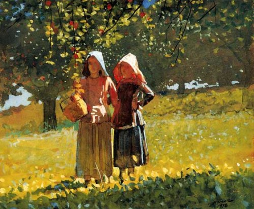 In the Orchard by Winslow Homer