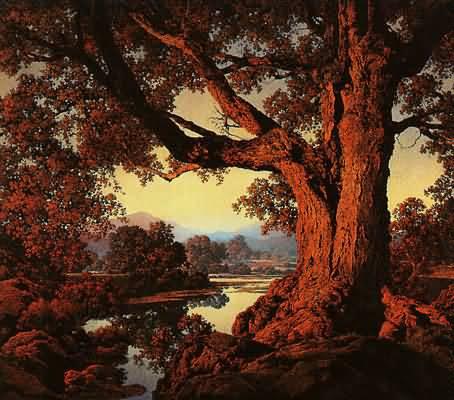 maxfield-parrish-riverbank-in-autumn