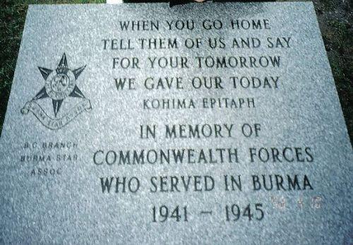 British 2nd Division at Kohima, India war memorial