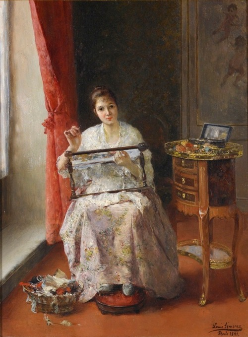 Luis-Jiménez-Aranda-Young-Woman-Embroidering