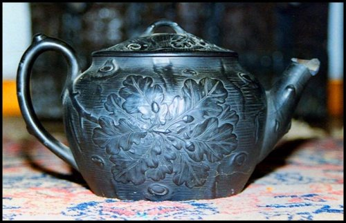Simeon's black Wedgewood teapot used at his Friday night Conversation Parties