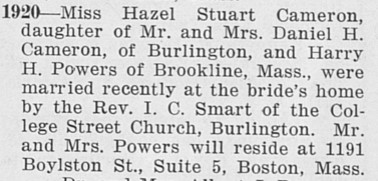 Hazel marriage