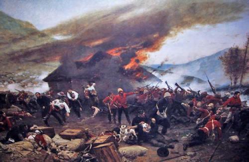 The Defense of Rorke'e Drift by Alphonse de Neuville