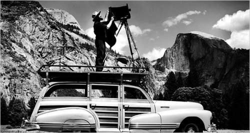 Ansel Adams in Yosemite 1942