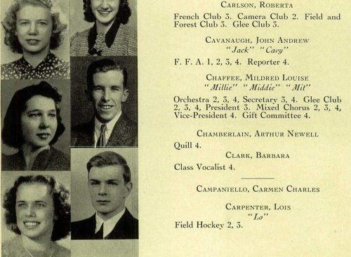 father's yearbook detail