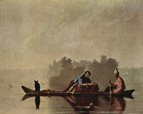 """Fur Traders Descending the Missouri"" (Metropolitan Museum of Art)"