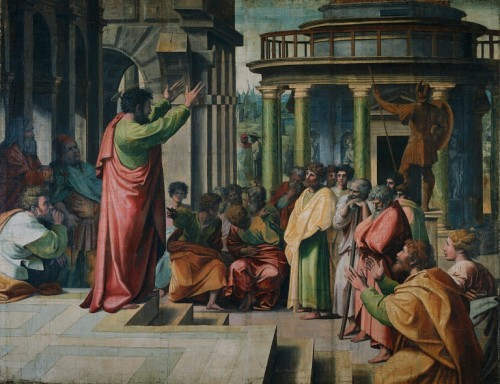 """St. Paul Preaching in Athens"" by Raphael"