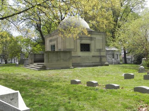 The Wainwright mausoleum designed by Louis Sullivan.