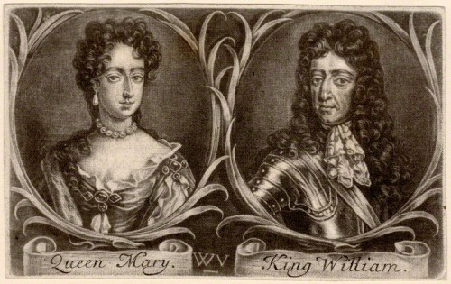 NPG D9227; Queen Mary II; King William III by Wallerant Vaillant, after  Unknown artist