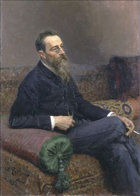 Nikolai Rimsky Korsakov looking suitably dour
