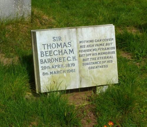 Beecham's grave in