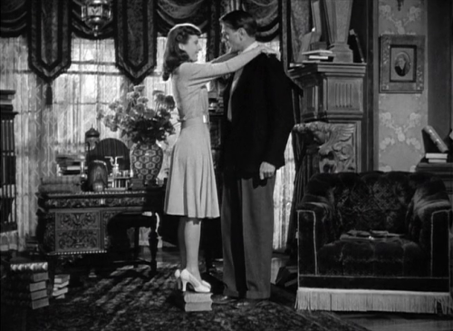 "Barbara Stanwyk and Gary Cooper in ""Ball of Fire"""