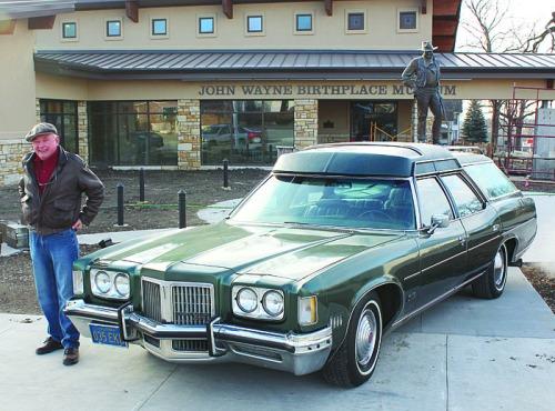 Downes_with_John_Wayne's_Car