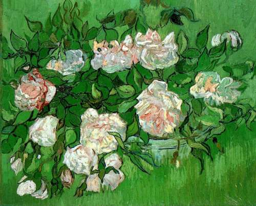 Vincent Van Gogh, Still Life with Pink Roses