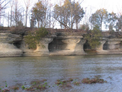 Seven Pillars natural rock formation in Miami County