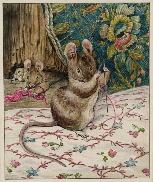 The Mice at Work: Threading the Needle circa 1902 Helen Beatrix Potter 1866-1943 Presented by Capt. K.W.G. Duke RN 1946 http://www.tate.org.uk/art/work/A01100