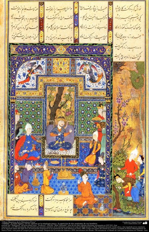 Zahhak and the snakes