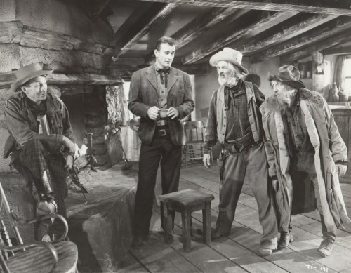 "John Wayne and some old coots in ""Tall in the Saddle"""