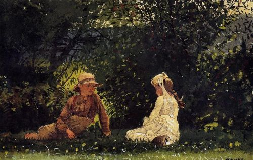 Scene-at-Houghton-Farm-Painting-by-Winslow-Homer