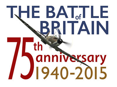 Poster marking the anniversary of the Battle of Britain, 1940-2015.
