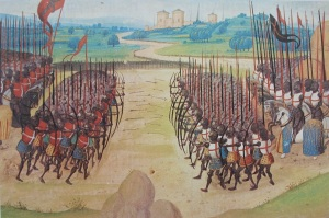 a 16th century miniature of the battle