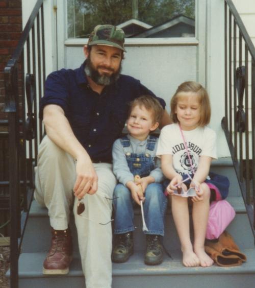 three on steps