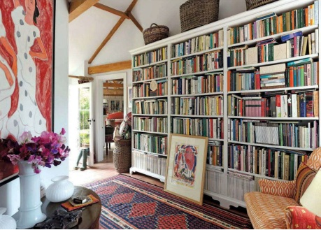 Country-home-interior-library