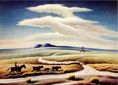 """The High Plains"" by THomas Hart Benton , 1958"