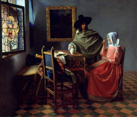 "Johannes Vermeer, ""The Glass of Wine"""