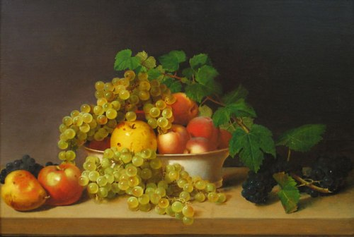 "James Peale, ""Still Life With Fruit"""
