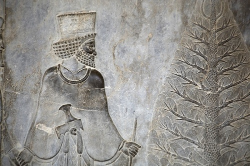 Xerxes and tree at Persepolis