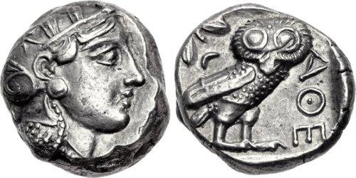 Athenian coin, 5th century BC