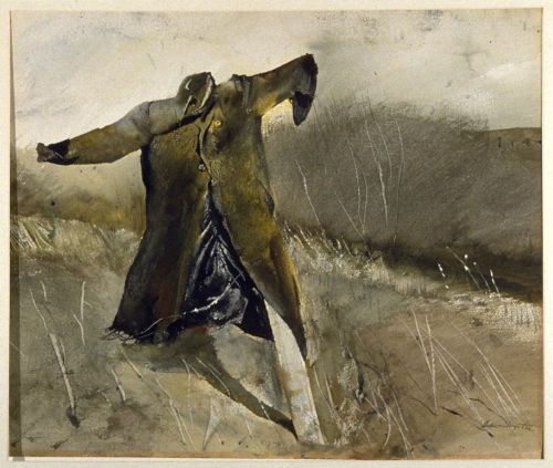Benny's Scarecrow (Jim Loper's coat) by Andrew Wyeth