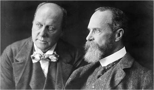 Henry and William James, brothers, early 20th century
