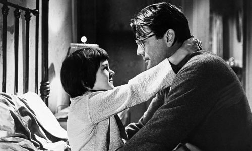 Gregory Peck and Mary Badham in